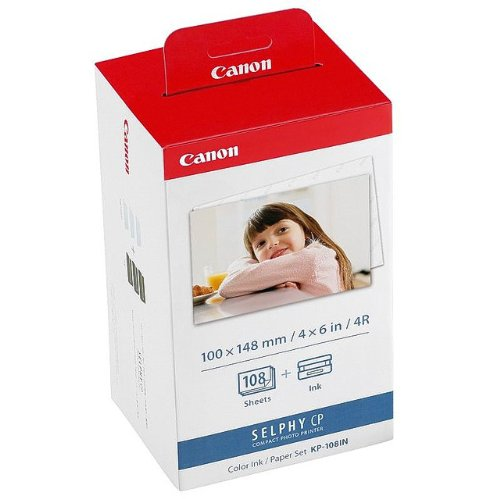 Canon de papier photo pour canon selphy cP 780 108 feuilles de papier photo a6 color ink paper lot de 100 x 148 mm cP780