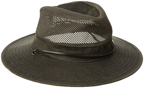 Velvet Cowboy Hat (San Diego Hat Co. Men's Outdoor Hat with Vented Crown with Stretch Band, Brown, Large/X-Large)