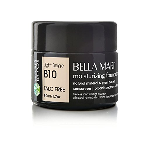 - Bella Mari Natural Moisturizing Foundation, Light Beige (B10); 1.7floz Glass
