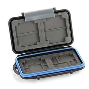 Caja Protector Impermeable Tarjeta Memoria 8 SD/4 CF Negro