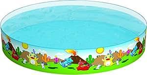 Bestway 55001 kids' play pool - billares para niños (Estampado, Multicolor, PVC, Vinilo, 2440 x 2440 mm, Caja a todo color)