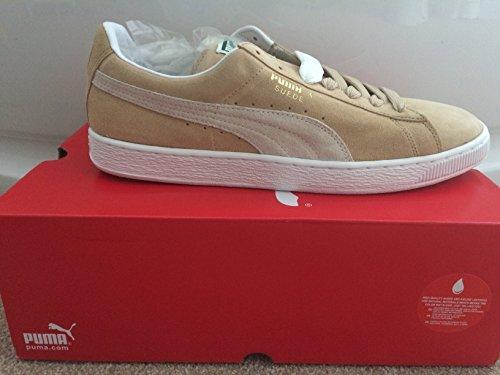 Puma Herren Suede Classic Sneaker Käseherstellung, In Weiß und Molke Sneaker, Gr. 7 UK
