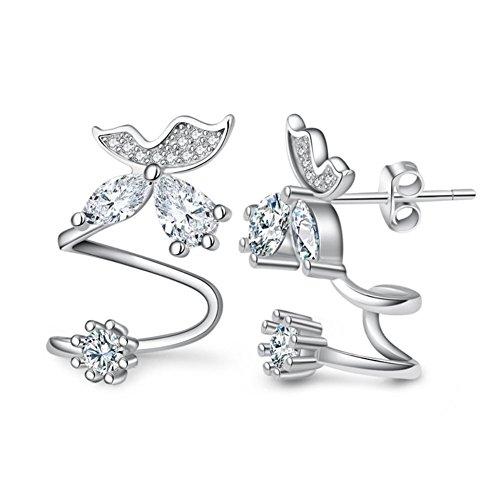 [ER1210138C1 New Style Silver Diamonds Women's Earring] (Diy Pageant Girl Costume)