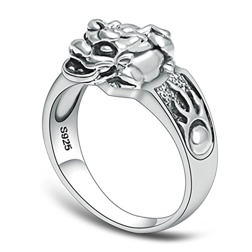 (ANAZOZ Jewelry 925 Sterling Silver Rings Wedding Bands Women Men Ring Circle Ring Silver Ring Size)