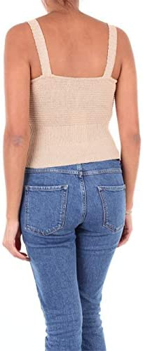 Kaos Luxury Fashion Donna LP1FP011SABBIA Beige Tank Top | Stagione Outlet