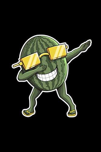 Notizbuch: Wassermelone Melone Dabbing A5 liniert Notebook I Sommer Journal I Geschenk für den Urlaub Strand I Tanzende Frucht mit Sonnenbrille (German Edition) (Familie Sonnenbrille)
