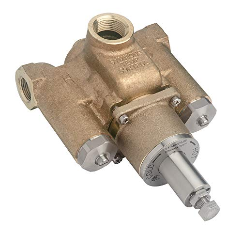 SYMMONS INDUSTRIES 7-500 Tempcontrol Thermostatic Mix Valve, Rough Brass, 1-1/4