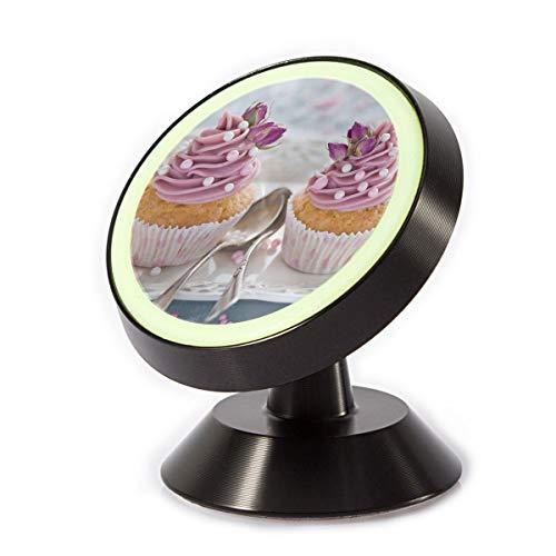 Car Phone Mount Holder Dessert Cupcake 360° Rotation Magnetic Car Phone Holder Universal with Super Strong Magnet]()
