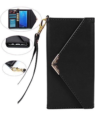 Galaxy S8 Case, Galaxy S8 Wallet Case, Crosspace S8 Envelope Flip Handbag Shell Slim PU Leather Women Wallet Magnetic Folio Cover with Card Holder Wrist Strap for Samsung Galaxy S8(2017)