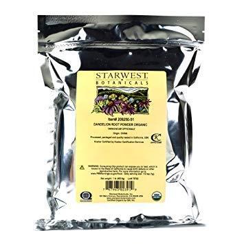 Starwest Botanicals Organic Dandelion Root Powder, 1 Pound
