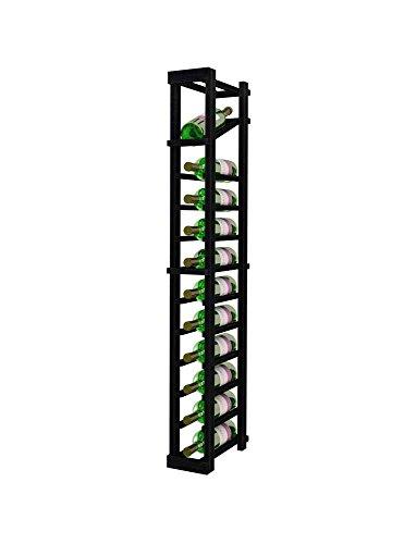 Vintner Series Wine Rack - 1 Column with Display - 4 Ft - Premium Redwood with Midnight Black - Premium Column 4