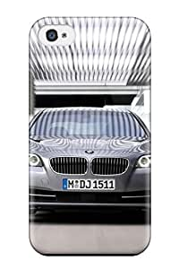High-end Case Cover Protector For Iphone 4/4s(5 Series Front Speed Silver Official Photos Cars Bmw)