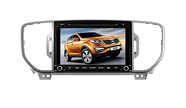 8 Inch Touch Screen Car GPS Navigation for KIA SPORTAGE / KX5 2016-2017 Stereo DVD Player Video Radio Audio Bluetooth Steering Wheel Control AUX IN+Free ...