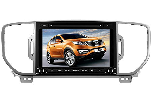 8 Inch Touch Screen Car GPS Navigation for KIA SPORTAGE / KX5 2016-2017 Stereo DVD Player Video Radio Audio Bluetooth Steering Wheel Control AUX IN+Free Rear View Camera+Free GPS Map of USA