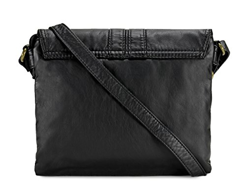 Scarleton Trendy Belt Strap Flap Crossbody Bag H199401 - Black ... 459c39dc2115a
