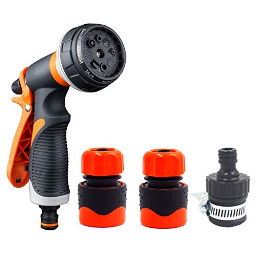 Willow SGarden Dual Hose Nozzle Watering Spray Patterns High Pressure Water Sprinkler with 8 Patterns