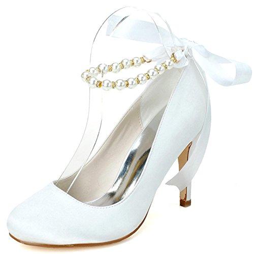 Altos Y Boda 5623 08 Noche Blanco Tacones Zapatos Mujer L Colores Más yc De Disponibles Fiesta qfawYz