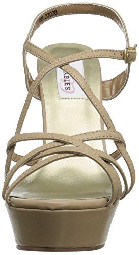 Dyeables, Kvinner Inc Cali Plattform Sandal Taupe