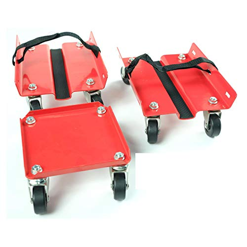 KASTFORCE KF2011 Snowmobile Dolly Set Max Supporting 1500Lbs with Heavy Duty Straps Firmly Attaching on Skis