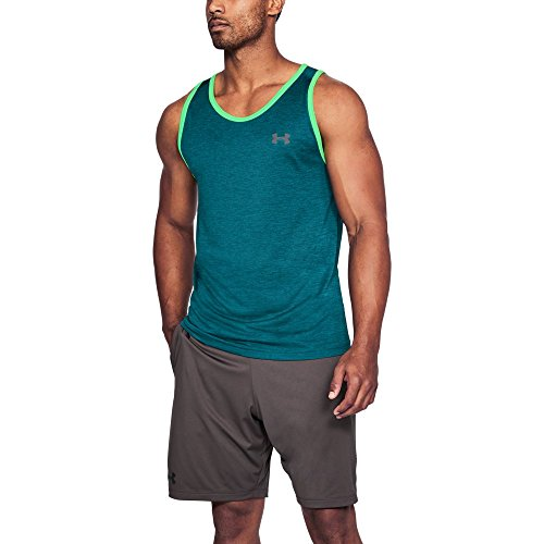 Under Armour Men's Tech Tank Top, Tourmaline Teal (717)/Graphite, X-Large