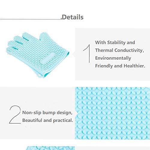 Elegantes manoplas de silicona para horno y soportes para ollas ...