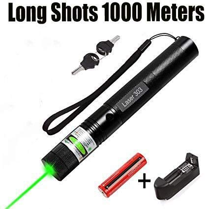 Jemine 2000m Tactical Green Hunting Rifle Scope Sight Laser Pen,Laser Pointer Chaser Toys for Cats/Dog, LED Interactive Baton Funny Halloween Party Laser Toy (Original Version)