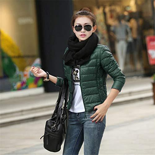 Oyanihin Femmes Coton Manteau Femme Lger Veste Courte Coton Couleur Unie Manteau Veste Ouate Vtement Extrieur pour l'hiver