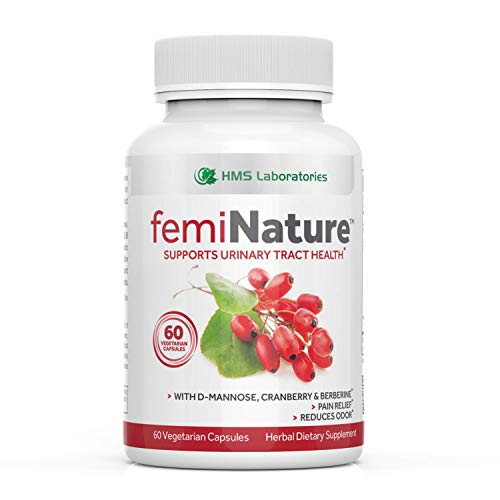 femiNatureTM Urinary Tract Infection Treatment for Women - Fast Acting Bladder and Urinary Tract Cleanse | D-Mannose, Cranberry Extract, MSM & Berberine - 60 Vegetarian Capsules