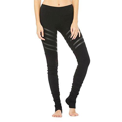 PU&PU Femmes Stripes Pantalons de sport Yoga Leggings Collants d'entraînement Pantalon de course respirant