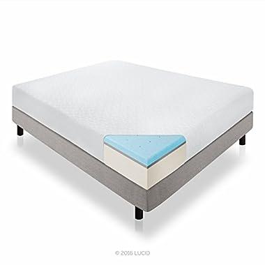 LUCID 12 Inch Gel Memory Foam Mattress - Triple-Layer - 4 Pound Density Ventilated Gel Foam - CertiPUR-US Certified - 25-Year Warranty - Cal King
