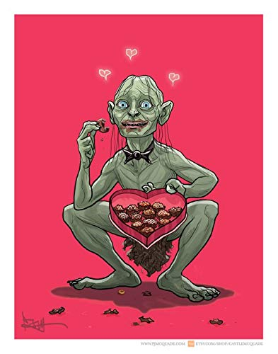 Amazoncom Gollum Lord Of The Rings Valentines Day Card Office