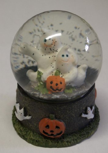Ghosts and Jack-o-Lantern Polyresin Water Globe