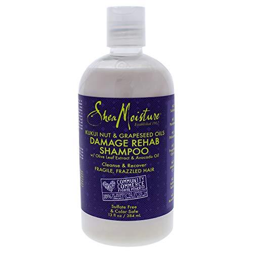 3 Pack Kukui Nut & Grapeseed Oils Damage Rehab Shampoo by Sh