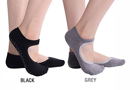 MAEZAP Non Slip Ballet Grip Sock for Barre Pilates Yoga, Pack of 2