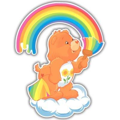 (Care Bears Friend Bear kids vynil car sticker 4