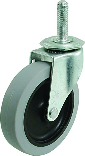Shepherd Hardware 3265 3-Inch Threaded Stem TPR Caster, 110-lb Load Capacity ()