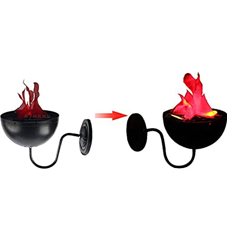Halloween LED Flame Lamp Vylymuses Hanging Fireplace Burning Brazier Dramatic lights Halloween Prop Artificial Flame For Halloween Party For Picnics (Type C) Carsimore