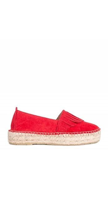 PERA LIMONERA Alpargatas Flecos Rojas - Color - Rojo, Talla Zapatos Mujer - 40: Amazon.es: Zapatos y complementos