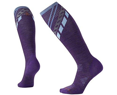 Smartwool Leg Warmer (Smartwool Women's PhD Ski Ultra Light Pattern Socks (Mountain Purple) Medium)