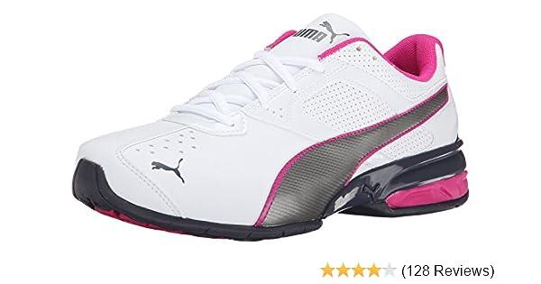 b0a57c72ca24 Amazon.com | PUMA Tazon 6 Sly JR Sneaker (Infant/Toddler/Little Kid/Big Kid),  White/Aged Silver/Beetroot Purple, 4 M US Big Kid | Running