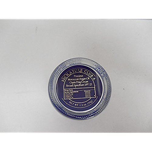 Signature Club A By Adrienne Precious Moroccan Argan Oil Oasis Day Cream Broad Spectrum SPF 25 1.2 oz