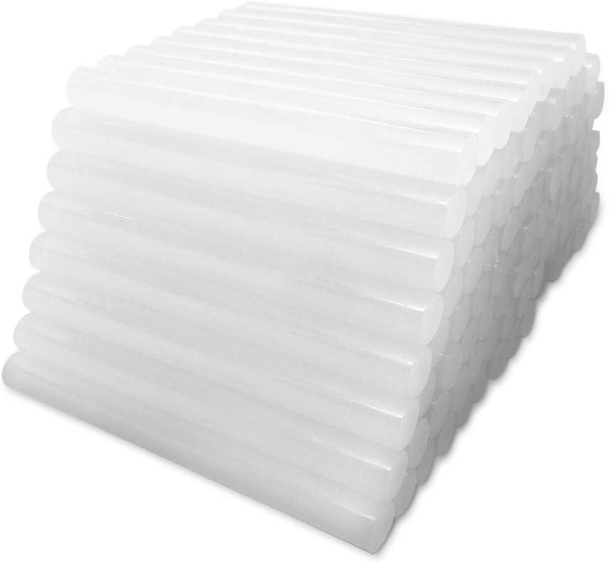 Plastiques Tissu Travail du Bois C/éramique - Colle Chaude Ultra-Transparente de Bricolage pour Loisirs Cr/éatifs 100 par Paquet 11 mm x 100 mm B/âtons de Colle Chaude Amdai