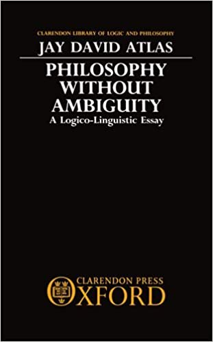 com philosophy out ambiguity a logico linguistic  com philosophy out ambiguity a logico linguistic essay clarendon library of logic and philosophy 9780198244547 jay david atlas books