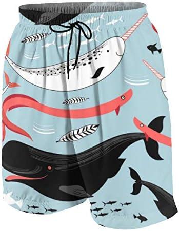 キッズ ビーチパンツ 海のクジラ 魚柄 サーフパンツ 海パン 水着 海水パンツ ショートパンツ サーフトランクス スポーツパンツ ジュニア 半ズボン ファッション 人気 おしゃれ 子供 青少年 ボーイズ 水陸両用