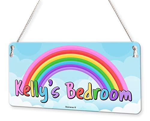 Rainbow Personalised Childs Bedroom Door Sign Name Plaque