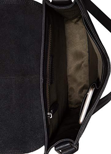 Rétro Cuir Onyxblack Véritable vintage Bandoulière Sac Leabags Furryvinkat En Buffle London De qZw6P0t