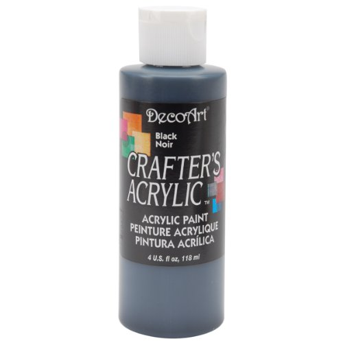 DecoArt Crafter's Acrylic Paint, 4-Ounce, Black