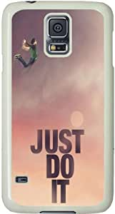 Galaxy S5 Case, Galaxy S5 Cases - Compatible With Samsung Galaxy S5 SV i9600 - Samsung Galaxy S5 Case Durable Protective Case for Black Cover Just Do It