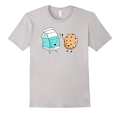Milk and Cookies Funny Food T-Shirt Tee Shirt Foodie Five