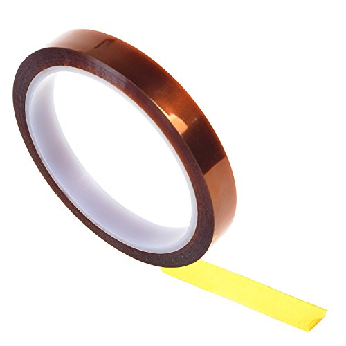 Heat High Temperature Resistant Adhesive Gold Tape For Electric Task 33m 12mm